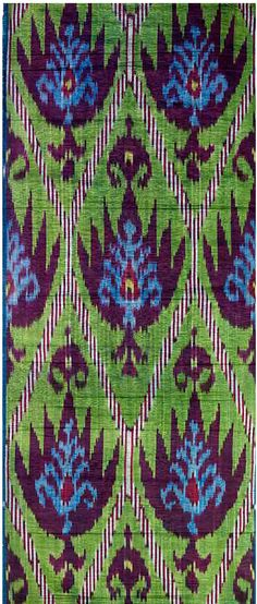 ikat pattern, color combos, blue green, peacock colors