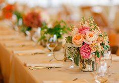 Pretty wedding table centerpieces.