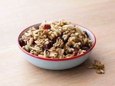Get this all-star, easy-to-follow Pumpkin Seed Dried Cherry Trail Mix recipe from Claire Robinson.