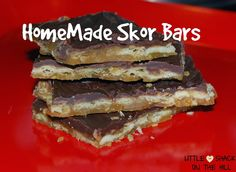 Homemade Skor Bars -