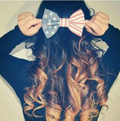 American flag bow! for the 4th of July!!!