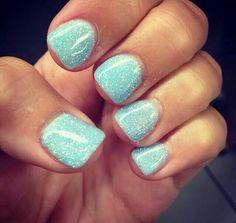 sparkle mint nails<3