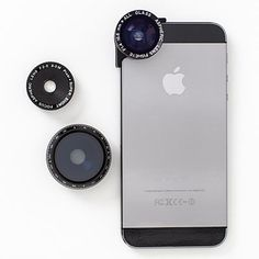 Shutterbugs will flip for a set of three slide-on photo lenses (macro, fisheye, and polarized) made to enhance iPhone picture taking. @Alex Filion  :) :)