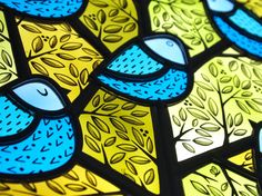 Contemporary Stained Glass Exhibition - One Square Foot | Panel by Flora Jamieson