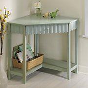 scalloped corner desk