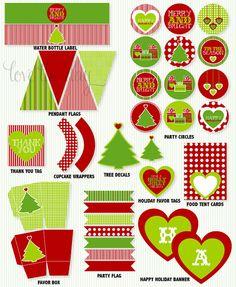Christmas party printable!!