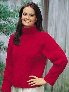 Ruby Cabled Turtleneck Knitting Pattern