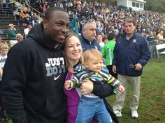 LeSean McCoy poses for pictures after his jersey retirement at McDevitt Field on Saturday morning. - 10.20.12