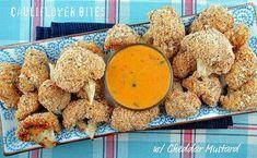 Cauliflowe Bites with Cheddar Sauce