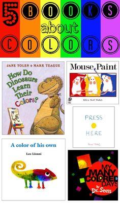 5 Great Books About Colors #parenting #preschool #ece #homeschool #kids