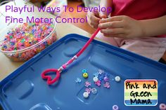 Simple craft that helps develop fine motor skills.