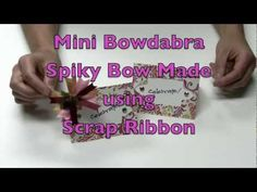 ▶ Mini Bowdabra Spiky Bow Tutorial - YouTube