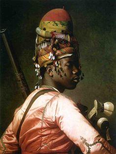'Black Bashi Bazouk' by Jean-Léon Gérôme, French. 1869