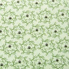 1/2m Little Brown Owl in Green Branches on Pale by handmadesource, $3.40