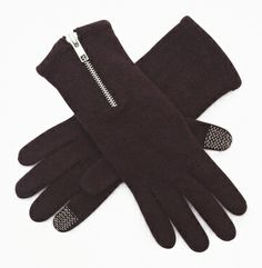 Knit Zipped Texting Glove - Kenneth Cole