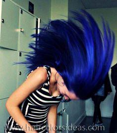 #blue #dyed #hair