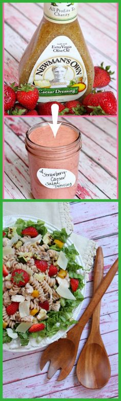 Strawberry- Caesar Grilled Chicken and Vegetable Salad #recipe