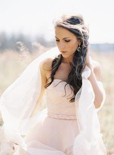 bridal session inspiration http://weddingsparrow.co.uk/2014/07/15/blush-pink-wedding-dress-inspiration/