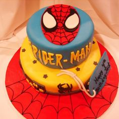 birthday parties, 5th birthday, spider man, spiderman, kid birthday cakes, boy birthday cakes, kid birthdays, party cakes, fondant cakes