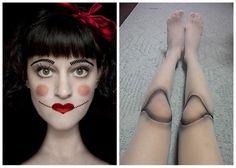 Halloween makeup - Doll costume