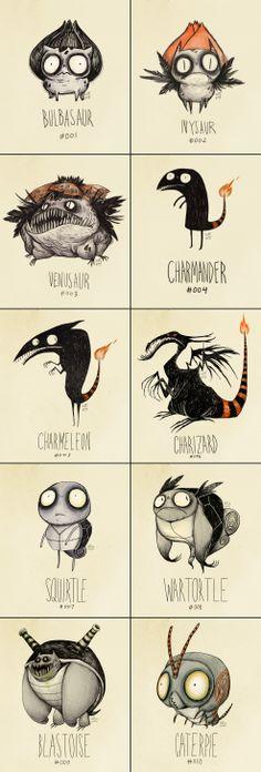 If Tim Burton drew Pokémon.