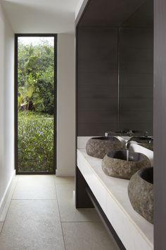 Sea Spa, Mauritius | Keith Interior Design// love the stone basins//