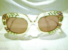 $1,456.00 VINTAGE Sunglasses HIPPIE girl eyewear by EDWARDO made in France very unique pai