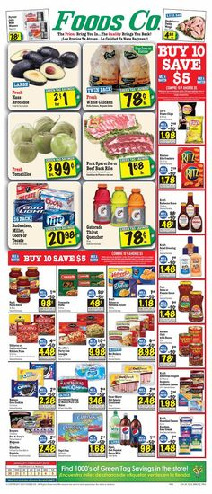 Foods Co 1/30 - 2/5 Weekly Deals & Coupon Matchups