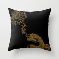 """""""One"""" Throw Pillow by Jared Tuttle on Society6."""