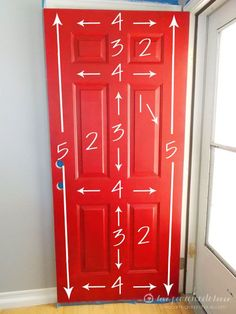How to paint the front door.
