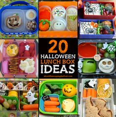 20 Halloween Lunch Box Ideas: from simple to elaborate, there's something for every ghoul and boy!