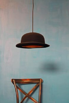 Jeeves Bowler Hat Pendant Light - Jeeves Black/Gold