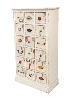Shabby Chic Apothecary Great piece for any room in the home.