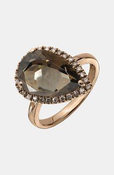 Right hand teardrop ring
