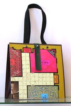 What mysteries will be revealed from this clever bag made of a Clue game board??