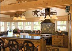 Westernkitchens On Pinterest Western Kitchen Log Home