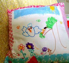 Kids Art Pillow Craft