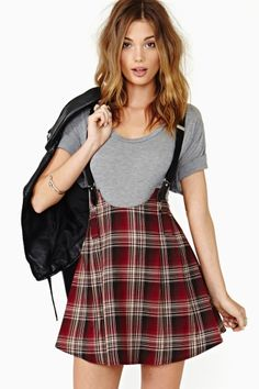 Ashlees Loves: Perfectly Plaid info @ashleesloves.com #suspender #plaid #skirt #women's #fashion #style