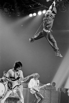 The Rolling Stones | onstage | rock and roll | perform | iconic | fly | flying | music |