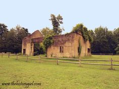 Poured concrete barn at Atsion, circa 1920. Wharton State Forest, Shamong, NJ. Learn more at www.thehistorygirl.com