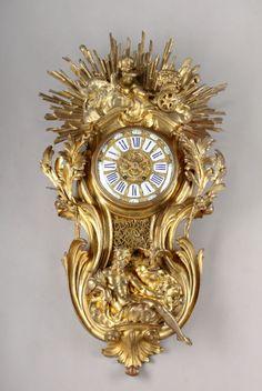 A 19th C. French Ormolu Bronze Cartel / Wall Clock.   eBay