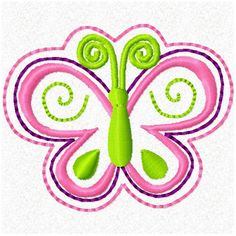 2 inch ITH Butterfly Feltie Hairbow Center Clippie Sewing Machine Embroidery Design. $2.99, via Etsy.