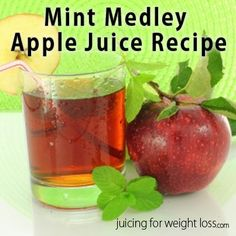 If you want to add an interesting twist on a straight apple juice recipe, adding some fresh mint is a wonderful way to punch up the flavor.