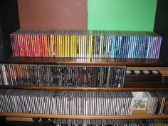 CDs arranged by colour! by Blandwagon, via Flickr