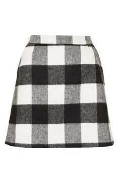 Plaid skirt.