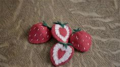 Making felt strawberry slices usually involves working with heart shaped pieces of material. Make felt strawberry slices with help from an…