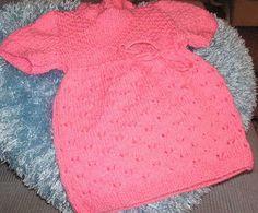 Knitting Galore: Sweet Lace Baby Dress