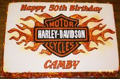 Harley Davidson Cake By infields on CakeCentral.com