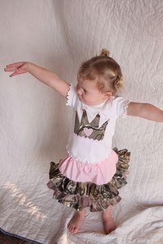 baby girl camo Realtree baby girl skirt and princess by haddygrace, $42.00