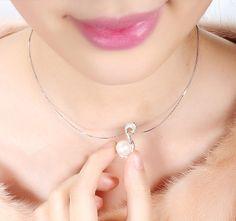 Daimi Rye perfect circle glare natural freshwater pearl pendant 9-10mm
